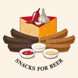 啤酒快餐的传染媒介图象 库存图片