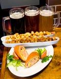啤酒快餐 库存照片