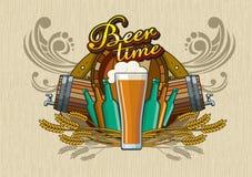 啤酒时间 免版税图库摄影