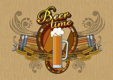 啤酒时间 库存图片