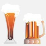啤酒杯向量 免版税库存照片