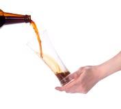 啤酒杯查出的现有量藏品做多士 免版税库存照片