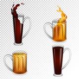 啤酒杯的例证 免版税图库摄影