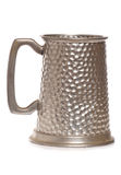 啤酒杯老银 免版税库存图片