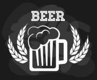 啤酒构思设计 免版税库存图片