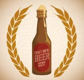 啤酒构思设计 库存照片