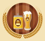 啤酒构思设计 免版税图库摄影