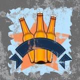 啤酒标志难看的东西背景,例证 向量例证