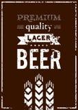啤酒标签传染媒介设计  免版税图库摄影