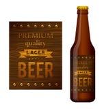 啤酒标签传染媒介设计 图库摄影