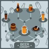 啤酒概念等量象 免版税库存照片