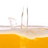 啤酒泡影。 免版税库存照片