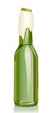 啤酒泡沫玻璃小瓶 皇族释放例证
