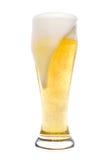 啤酒泡沫玻璃 免版税库存图片