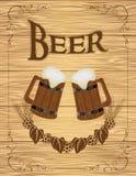 啤酒海报 库存例证