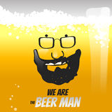 啤酒液体传染媒介例证概念 库存图片
