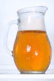 啤酒满地露水的投手 库存照片