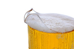 啤酒特写镜头投手 免版税图库摄影
