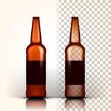 啤酒瓶传染媒介 产品装箱 browne 设计广告 3D透明被隔绝的现实例证 向量例证