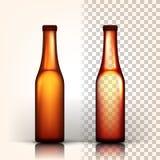 啤酒瓶传染媒介 慕尼黑啤酒节酿造 酒精标志 browne 3D透明被隔绝的现实例证 向量例证