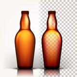 啤酒瓶传染媒介 慕尼黑啤酒节酿造 酒精标志 browne 3D透明被隔绝的现实例证 皇族释放例证