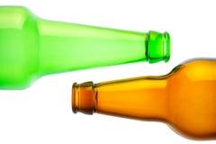 啤酒瓶倒空 免版税图库摄影