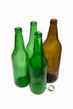啤酒瓶倒空 免版税库存图片