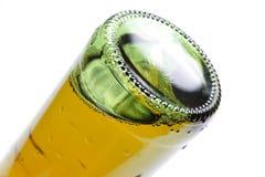 啤酒瓶底层 免版税库存图片