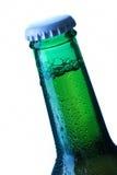 啤酒瓶投下细节 免版税库存照片