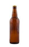 啤酒瓶查出的白色 免版税库存照片