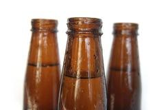 啤酒瓶特写镜头 库存照片