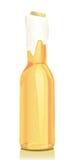 啤酒瓶玻璃金子 库存例证