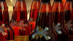 啤酒瓶的片段 免版税库存图片
