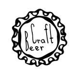 啤酒瓶盖帽 乱画样式剪影 向量 免版税图库摄影