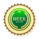 啤酒瓶盖帽 免版税库存照片