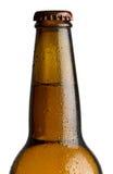 啤酒瓶详细资料 免版税库存图片