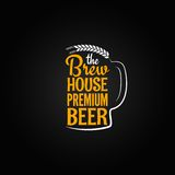 啤酒瓶玻璃房子设计菜单背景 免版税库存图片