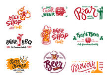 啤酒略写法集合 向量例证