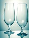 二块空的玻璃 免版税库存图片