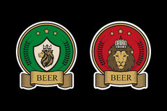 啤酒的商标 免版税库存照片