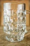 啤酒的空的玻璃玻璃 图库摄影