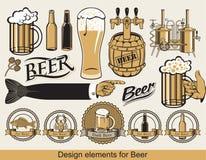 啤酒的设计 图库摄影