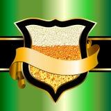 啤酒盾 免版税库存图片