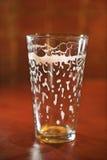 啤酒空的玻璃 免版税图库摄影