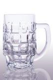 啤酒空的玻璃 免版税库存图片