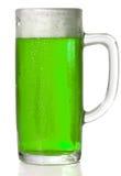 啤酒绿色杯子 库存图片