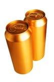 啤酒罐金子二 免版税库存图片