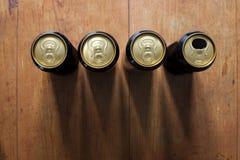 啤酒罐 免版税库存照片