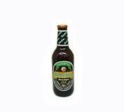 啤酒老挝人黑暗贮藏啤酒 库存图片
