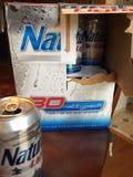 啤酒自然光被喝的乐趣饮料旅行 库存照片